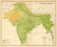 SOUTH ASIA. BRITISH INDIA Vegetation forest bush desert cultivated 1931 map